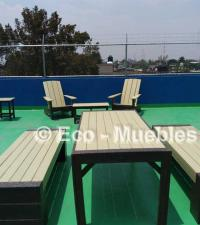 Mesas en terraza Mod M004 Color Beige y Chocolate